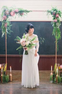 Lilas Wood fleuriste mariage à lyon en Rhône alpes - Inspiration Pinterest - Arche fleurie mariage originale