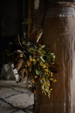 Bouquet de la mariée confectionné par l'atelier Lilas Wood fleuriste mariage à lyon en Rhône alpes - Photographie Rock my world photography