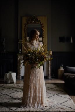 Image représentant un bouquet de mariée confectionné par l'atelier floral Lilas wood - fleuriste mariage à lyon en Rhône alpes