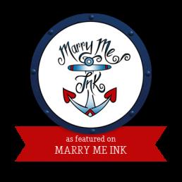 Logo marry me ink - Atelier Lilas Wood - fleuriste mariage à lyon