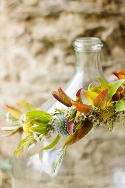 Couronne de mariée de l'atelier Lilas Wood fleuriste mariage à lyon en Rhône alpes