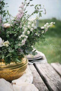 Composition de l'atelier Lilas Wood fleuriste mariage à lyon en Rhône alpes