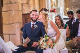 Bouquet de la mariée confectionné par l'atelier Lilas Wood fleuriste mariage Beaujolais & Bourgogne, fleuriste mariage Lyon, fleuriste mariage Dijon, fleuriste mariage Mâcon, fleuriste mariage Rhône Alpes.